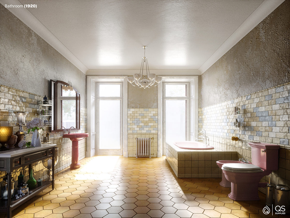 Bathrooms From The Year 1920-2020